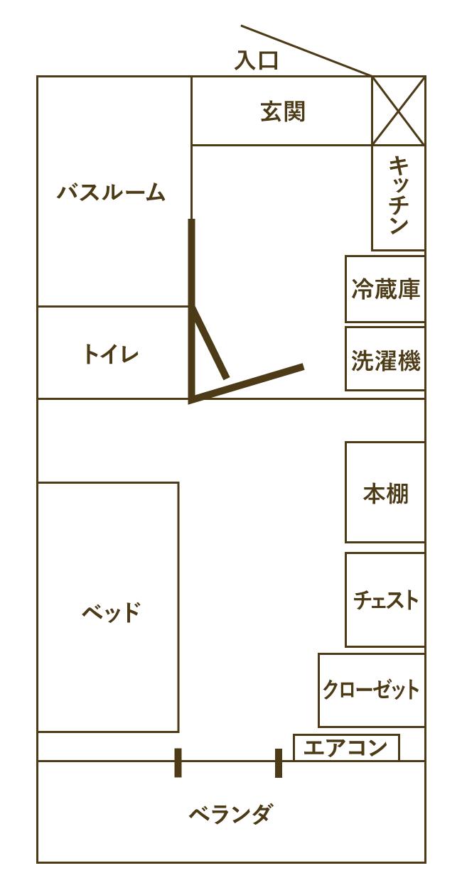 見取り図(モデルルーム612号室)